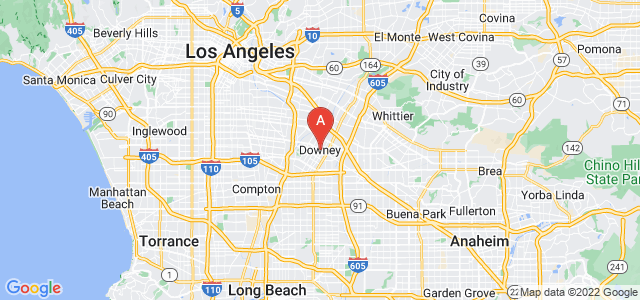 map of Downey, United States of America