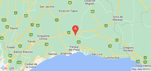 map of Dr. Francisco Soca, Uruguay