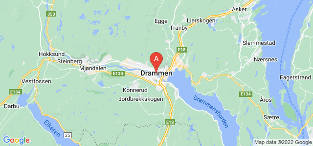 map of Drammen, Norway