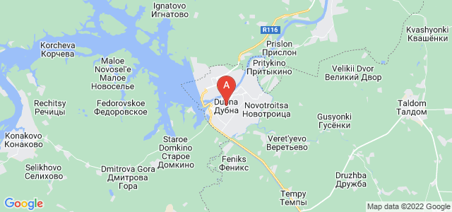 map of Dubna, Russia