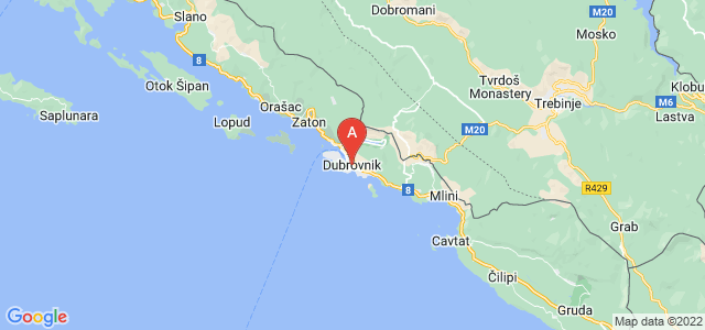 map of Dubrovnik, Croatia