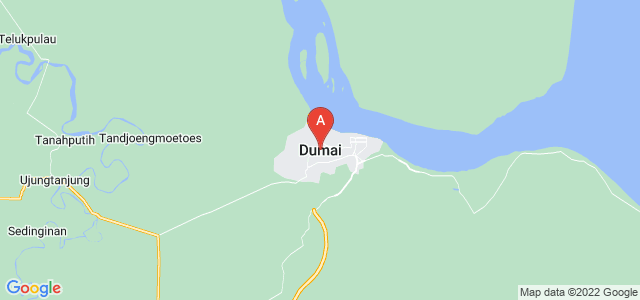 map of Dumai, Indonesia