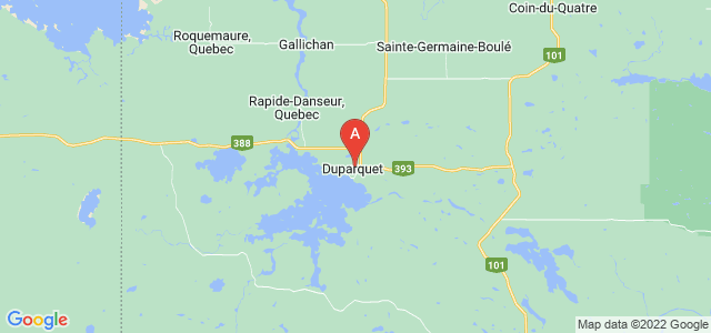map of Duparquet, Canada