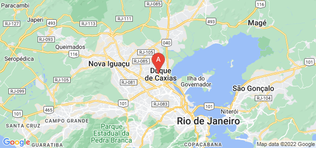 map of Duque de Caxias, Brazil