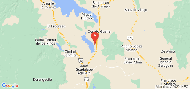 map of Durango, Mexico