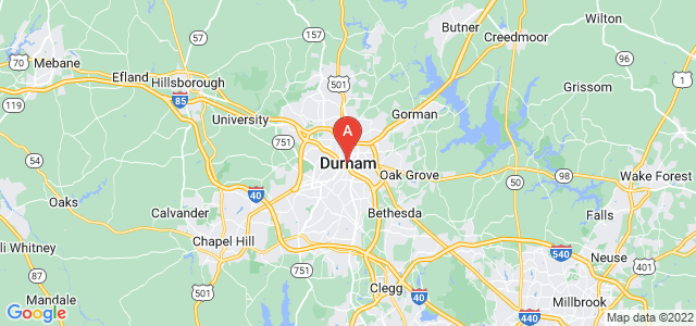 map of Durham, United States of America
