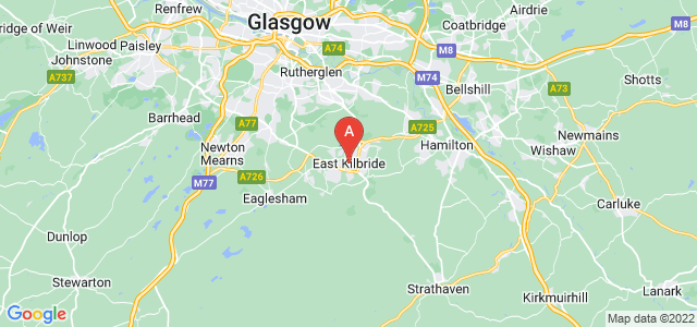 map of East Kilbride, United Kingdom