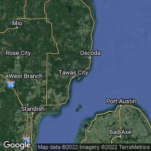 Static Map of East Tawas, Michigan
