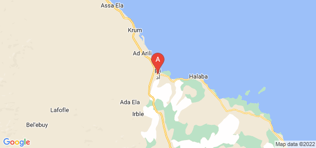 map of Edd, Eritrea