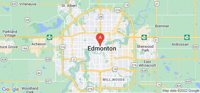 map of Edmonton, Canada