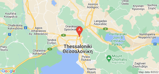 map of Efkarpia, Greece