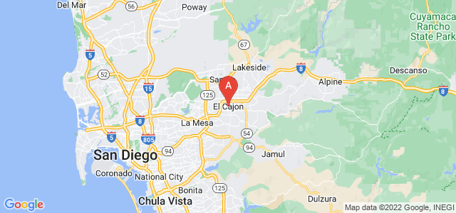 map of El Cajon, United States of America