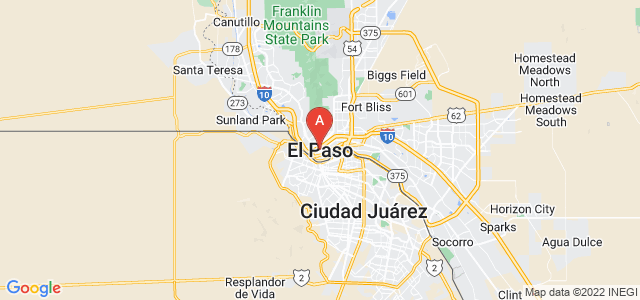 map of El Paso, United States of America