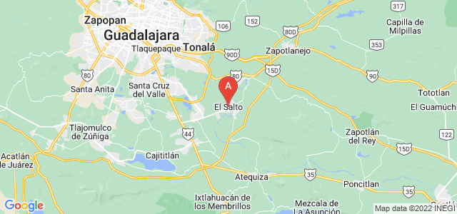 map of El Salto, Mexico