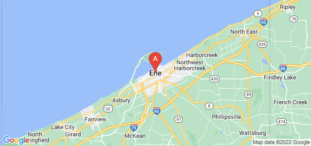 map of Erie, United States of America