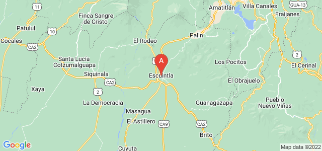 map of Escuintla, Guatemala
