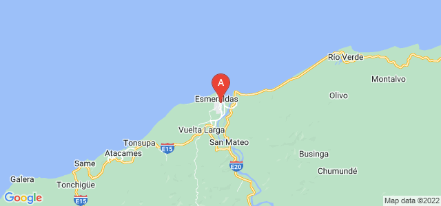 map of Esmeraldas, Ecuador