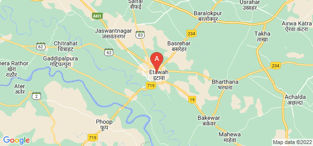 map of Etawah, India