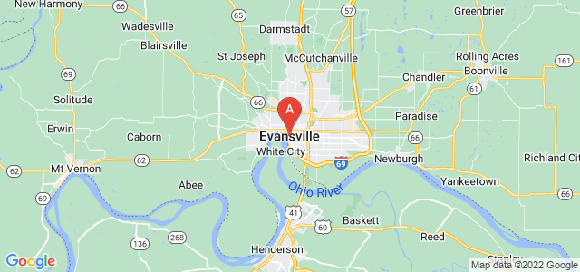 map of Evansville, United States of America