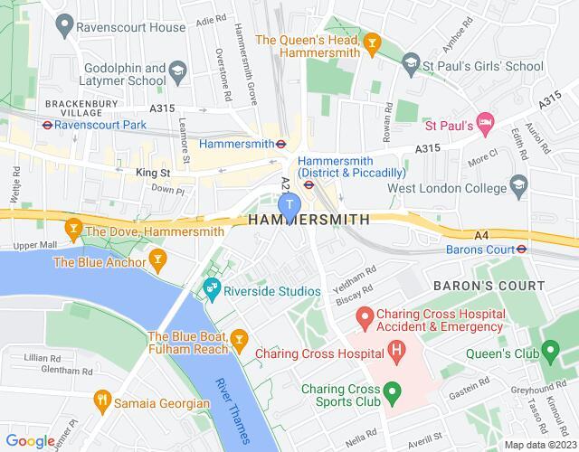 Location map for Eventim Apollo