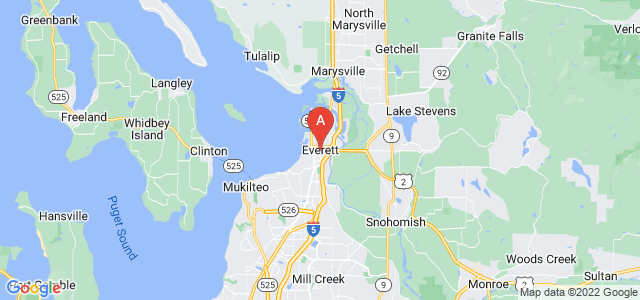 map of Everett, United States of America