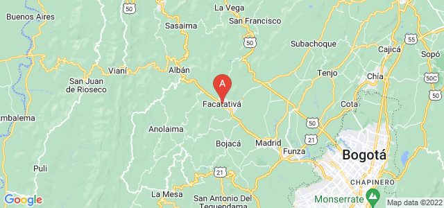 map of Facatativá, Colombia