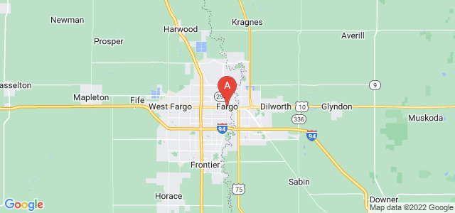 map of Fargo, United States of America