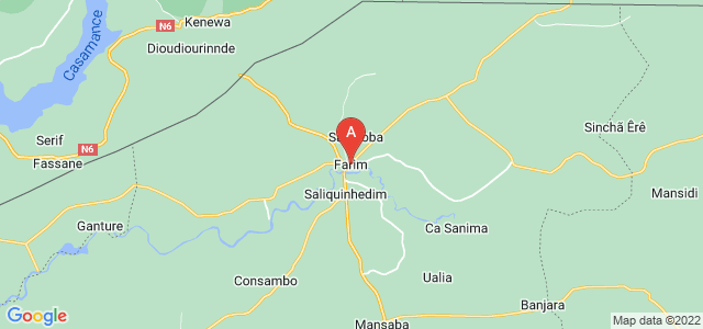 map of Farim, Guinea-Bissau
