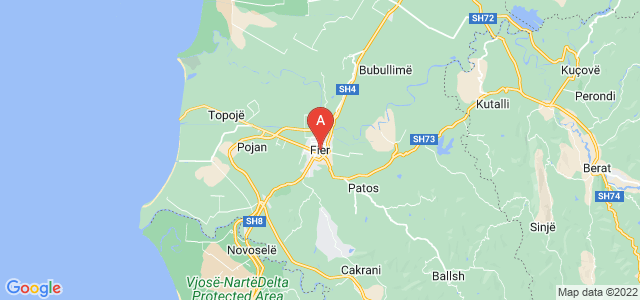 map of Fier, Albania