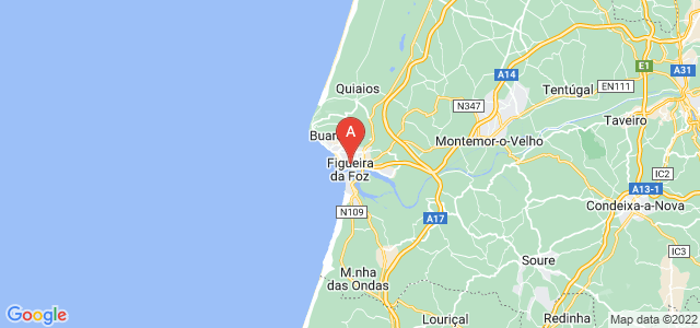 map of Figueira da Foz, Portugal