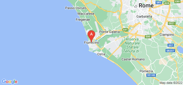 map of Fiumicino, Italy