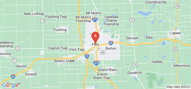map of Flint, United States of America