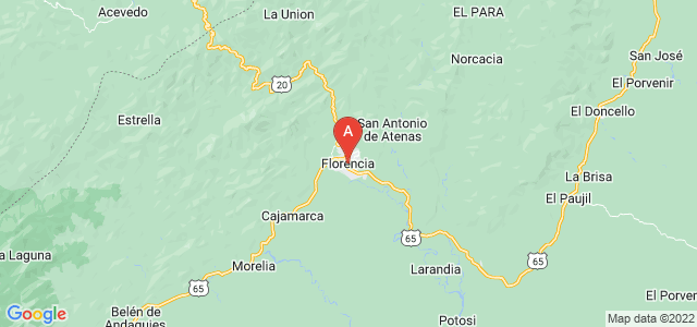 map of Florencia, Colombia
