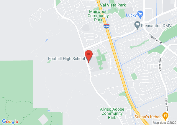 Map of Foothill High School, Pleasanton, CA, United States