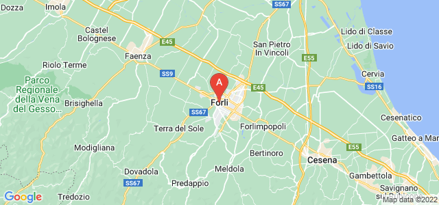 map of Forlì, Italy