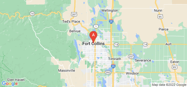 map of Fort Collins, United States of America