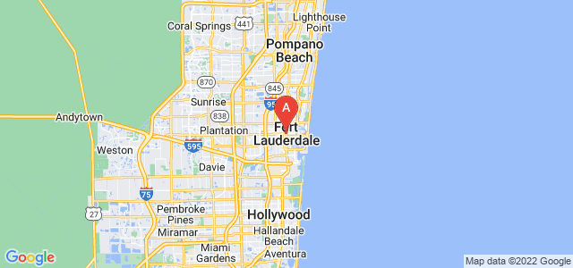 map of Fort Lauderdale, United States of America