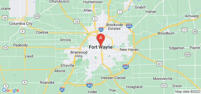 map of Fort Wayne, United States of America