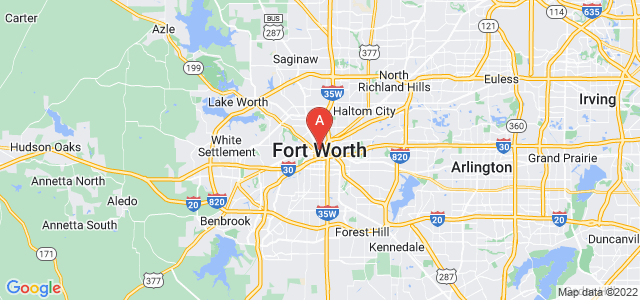 map of Fort Worth, United States of America