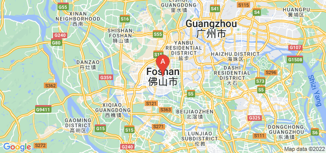 map of Foshan, China