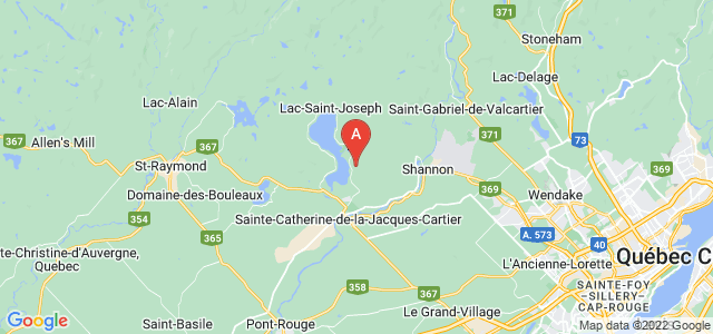 map of Fossambault-sur-le-Lac, Canada