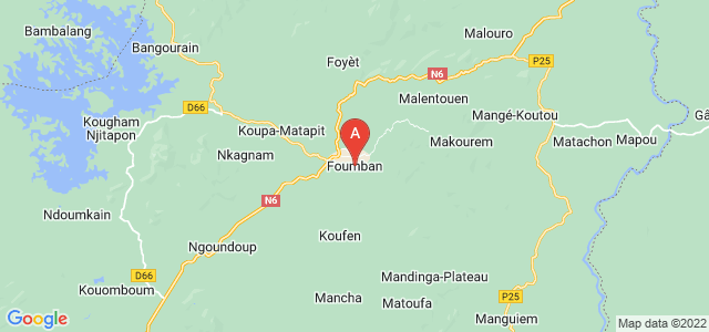 map of Foumban, Cameroon