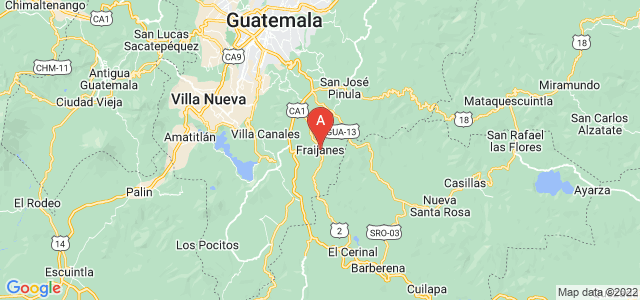 map of Fraijanes, Guatemala