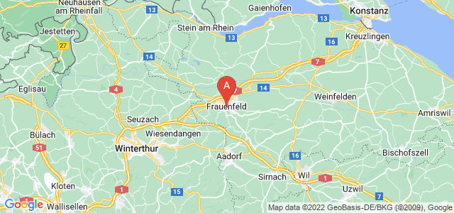 map of Frauenfeld, Switzerland