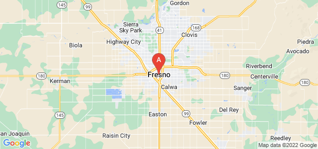 map of Fresno, United States of America