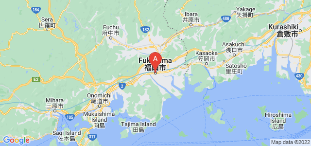 map of Fukuyama, Japan