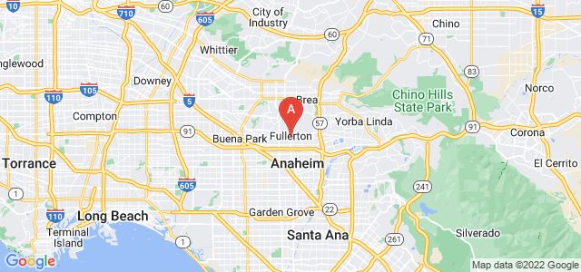 map of Fullerton, United States of America