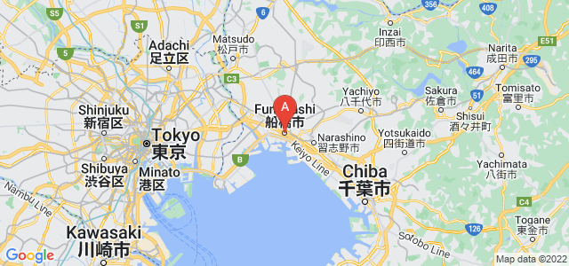 map of Funabashi, Japan
