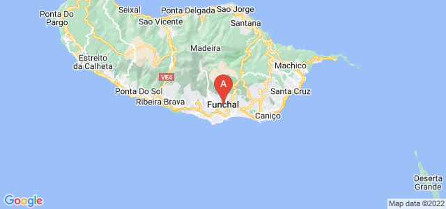 map of Funchal, Portugal