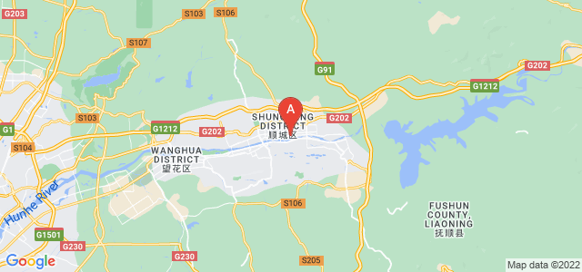 map of Fushun, China